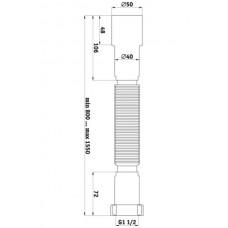 """Гибкая труба """"Ани"""" 40 х 50 L = 375 мм  (К 435)"""