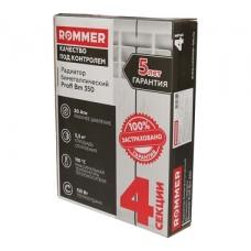 ROMMER 4 секции радиатор биметаллический Profi BM 350